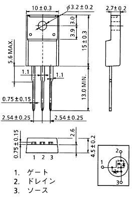 功率mos场效应管2sk2232(60v25a)