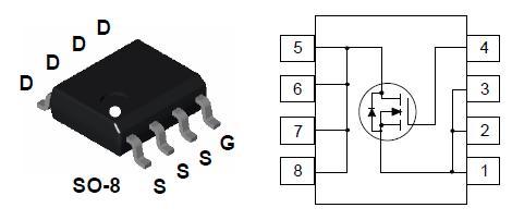 ■Nチャネル 1回路入り■小型で低オン抵抗■DC,DCコンバータ,モータードライブ,電源制御などに最適です。 ■60V 8A