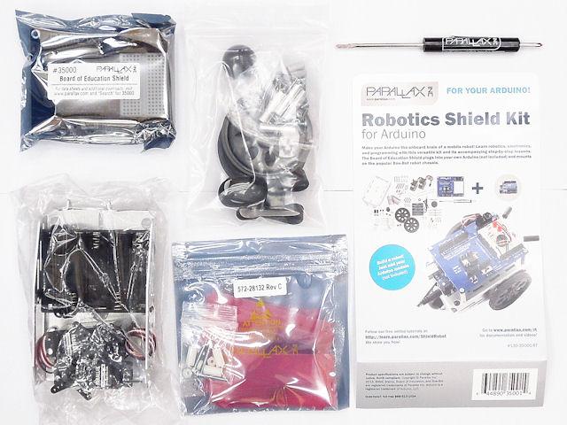 Arduino用のParallax (Arduino付き) Boe-Botロボットシールドキット