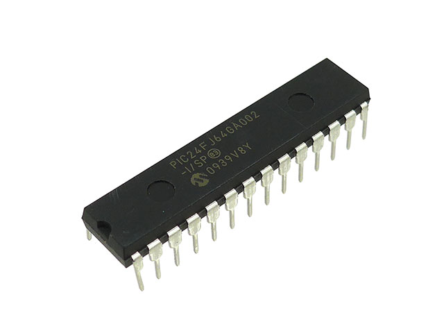 PIC24FJ64GA002、世界大会でも使用したPICですね。うちの部活の定番のPICです。