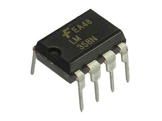 2回路入汎用オペアンプ(フェアチャイルド製)LM358N(5個入)