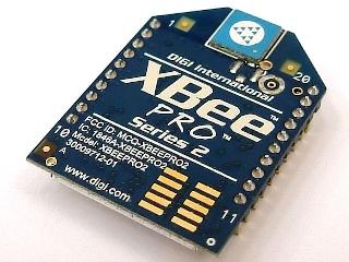ZigBeeです。この写真はその中のXBeePROという種類のものです。